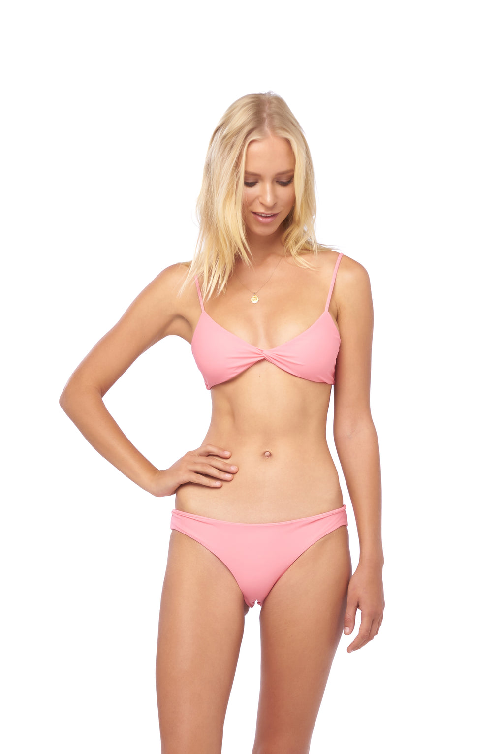 Storm Swimwear - Bora Bora - Twist front padded top in Cotton Candy