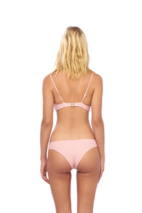Storm Swimwear - Bora Bora - Twist front padded top in Coral Cloud