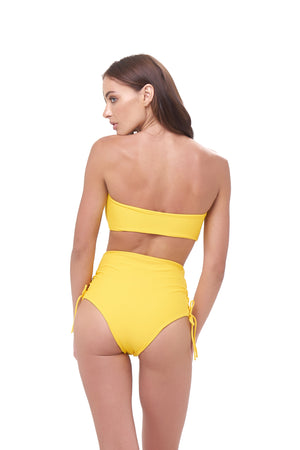 Storm Swimwear - Ravello - Plain Bandeu Bikini Top in Citrus
