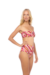 Storm Swimwear - Cannes - High Waist Bikini Bottom in Kaleidescope print