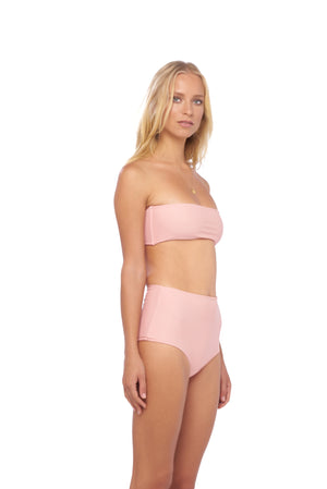 Storm Swimwear - Cannes - High Waist Bikini Bottom in Blush