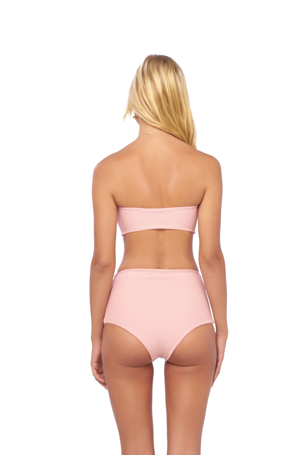 Storm Swimwear - Cannes - High Waist Bikini Bottom in Coral Cloud