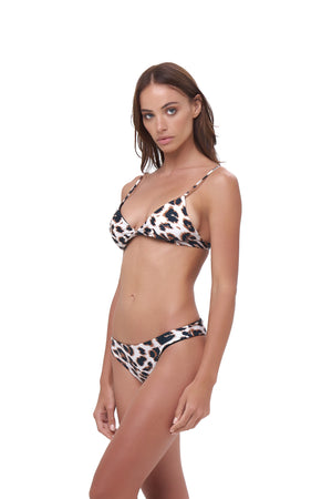 Storm Swimwear - Aruba - Centre Back Ruche Bikini Bottom in Leopard Print