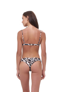 Storm Swimwear - Mallorca - Triangle Bikini Top with removable padding in Leopard Print