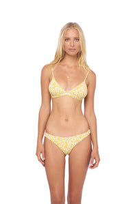 Storm Swimwear - Mallorca - Triangle Bikini Top with removable padding in Sunflower