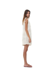 La Confection - Almira - One shoulder mini dress in Bircher Linen