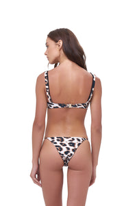 Storm Swimwear - Corsica - Lace Up bikini top in Leopard Print