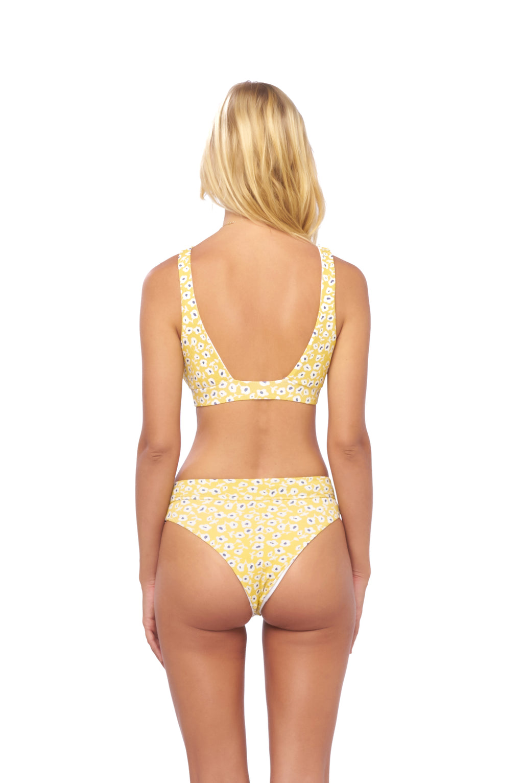 Storm Swimwear - Super Paradise - Super Style High waist brief in Sunflower
