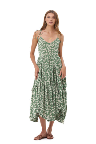 La Confection - Valere - Maxi Dress in Ivy in Dill and Birch