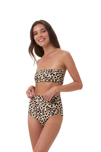 Storm Swimwear - Cannes - High Waist Bikini Bottom in Cheetah Print