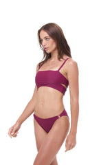 Storm Swimwear - Balearic Island - Bandeu Bikini Top in Wine