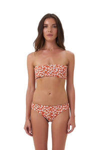 Storm Swimwear - St Barts - Bottom in Vintage Flower Red Print