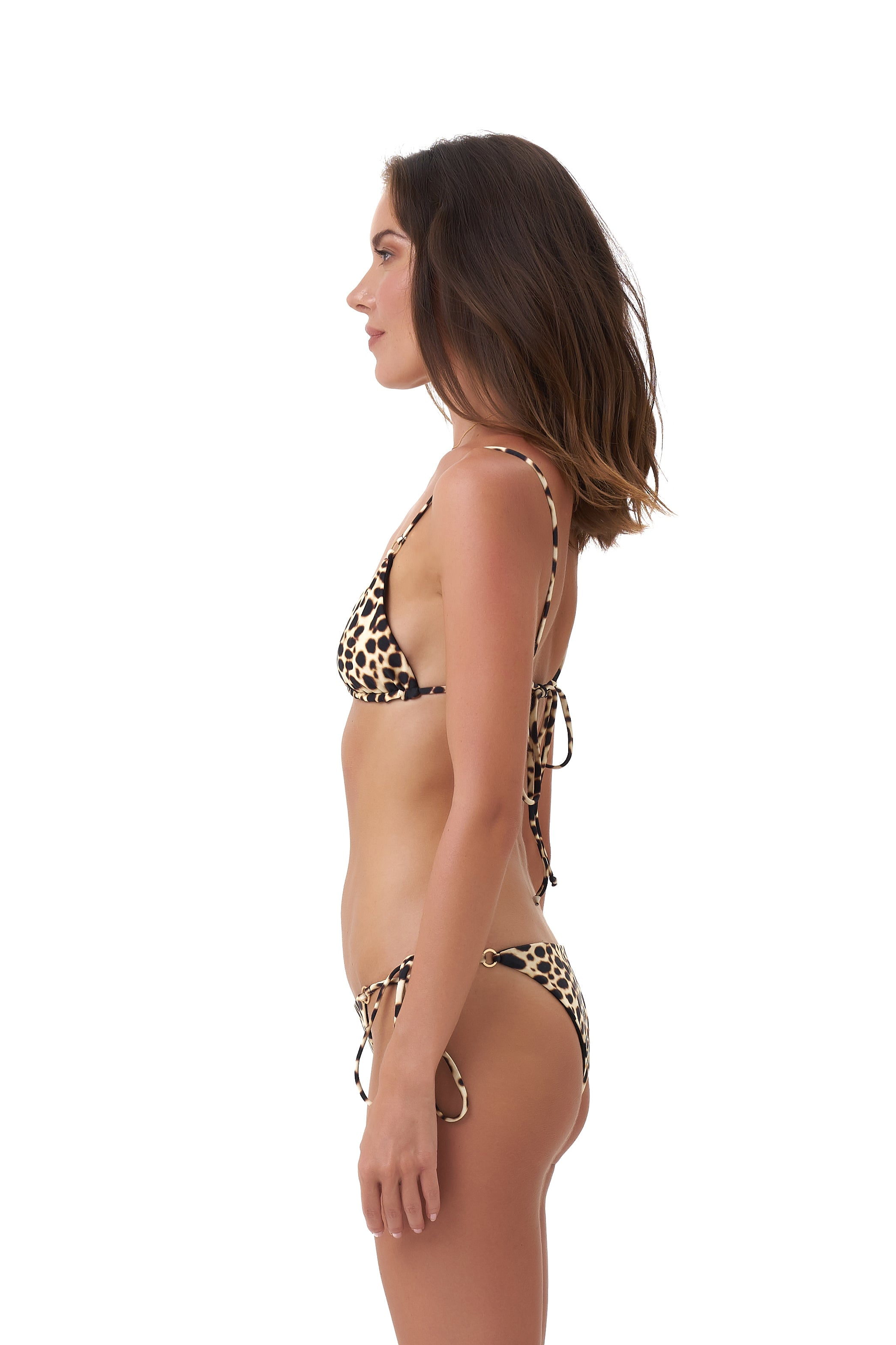 Storm Swimwear - Corfu - Tie Side with Ring Bikini Brief in Cheetah Print
