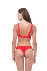 Storm Swimwear - Aruba - Centre Back Ruche Bikini Bottom in Scarlet