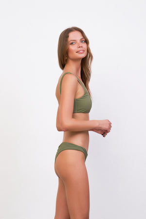 Storm Swimwear - Belize - Bikini Top in Jungle Corduroy