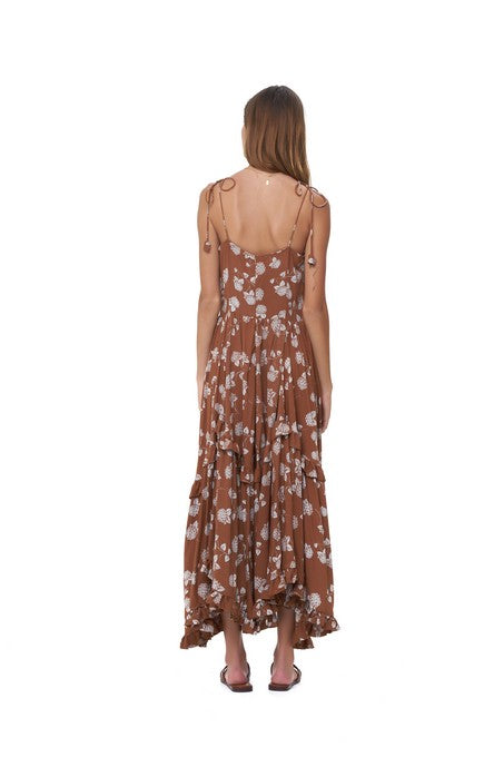 La Confection - Valere - Maxi Dress in Lantana Sunburnt