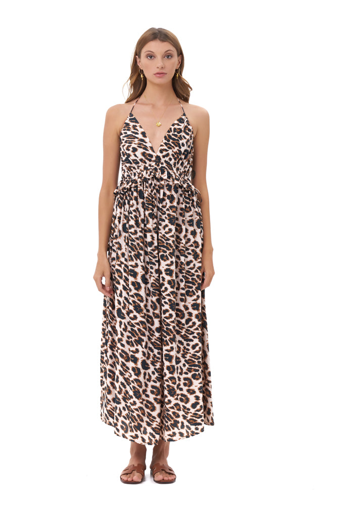 La Confection - Ariana - Maxi Dress in Leopard Print