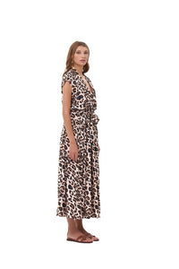 La Confection - Aia - Maxi Dress in Leopard Print