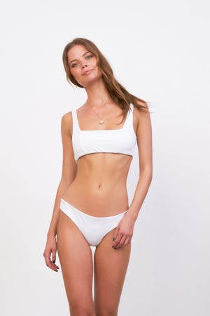 Storm Swimwear - Belize - Bikini Top in White Corduroy