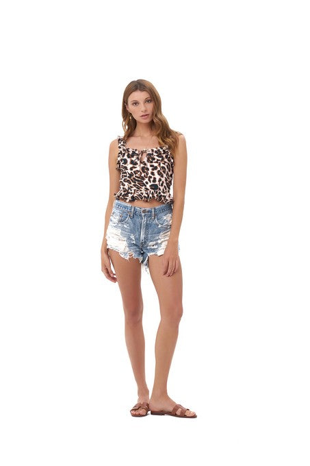 La Confection - Ajak - Top in Leopard Print
