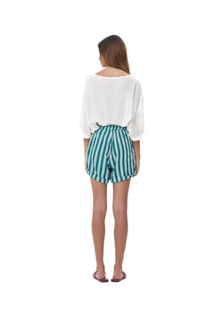 La Confection - Joie - Short in Stripe Sea Green