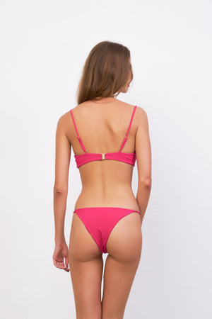 Storm Swimwear - Capri - Tube Single Side Strap Bikini Bottom in Flamingo Corduroy