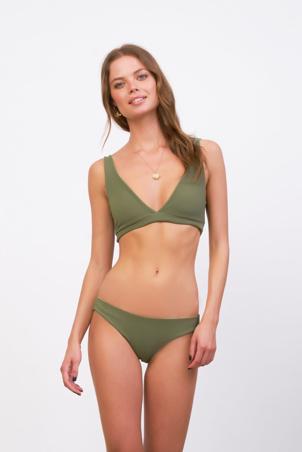 Storm Swimwear - Crete - Coverage top in Jungle Corduroy