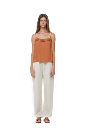 La Confection - Romy Camisole - Top in Plain Sunburnt