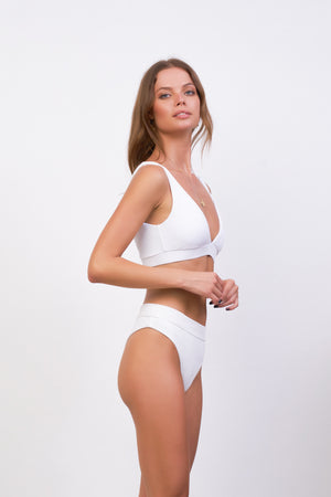 Storm Swimwear - Super Paradise - Super Style High waist brief in White Corduroy