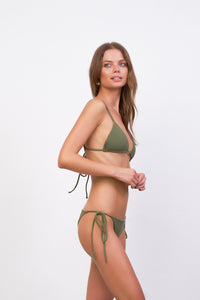 Storm Swimwear - Formentera - Tie Side Bikini Bottom in Jungle Corduroy