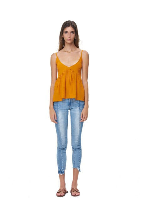 La Confection - Ksenia - Baby Doll Camisole Top in Citrus