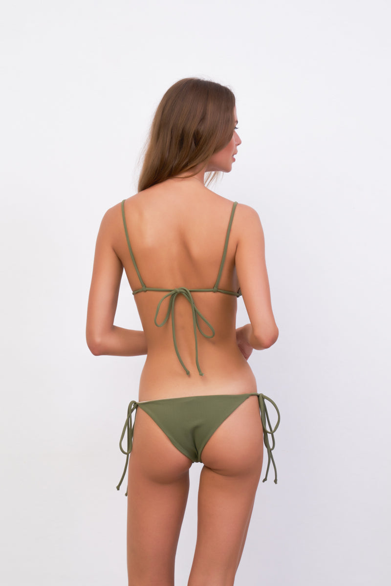 Storm Swimwear - Formentera - Tie Back Triangle Bikini Top in Jungle Corduroy