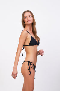 Storm Swimwear - Formentera - Tie Back Triangle Bikini Top in Raven Corduroy