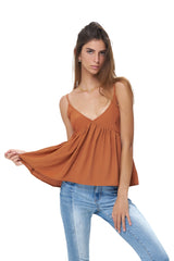 La Confection - Ksenia - Baby Doll Camisole Top in Sunburn