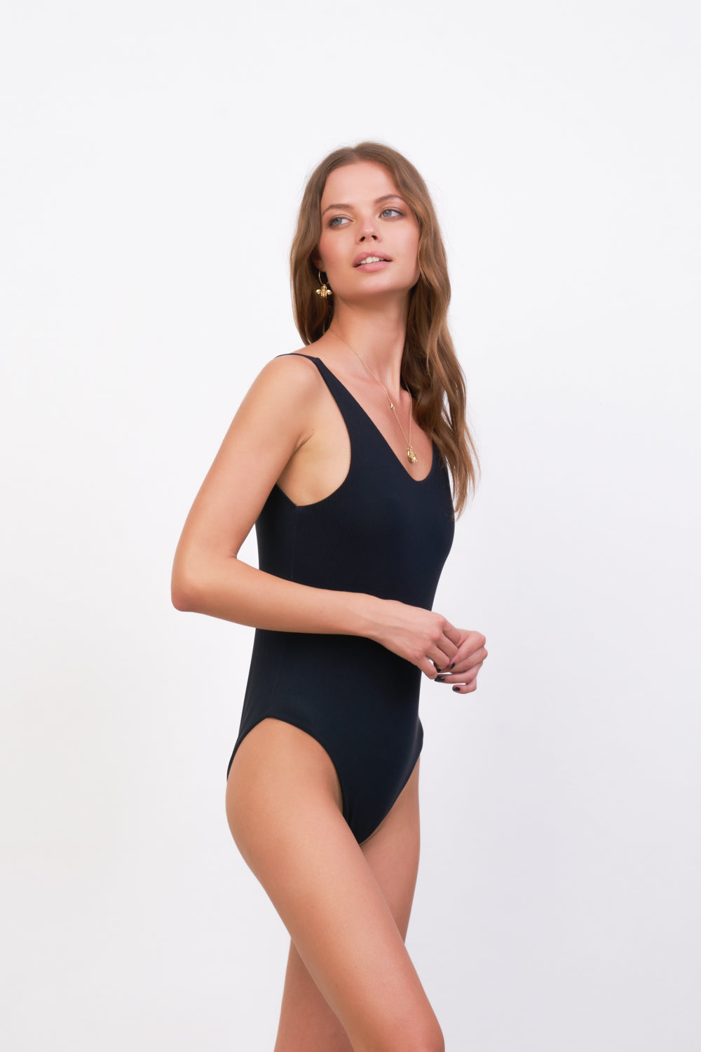 Storm Swimwear - Cayman - One Piece in Raven Corduroy