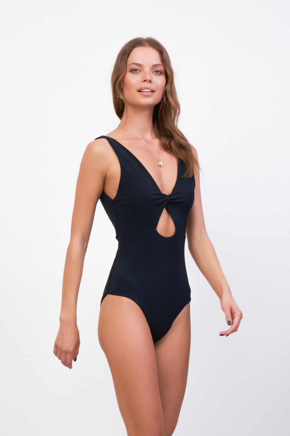 Storm Swimwear - One Fire - One Piece in Raven Corduroy