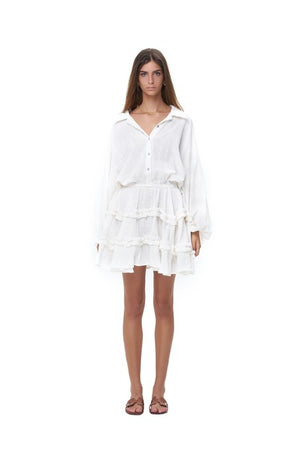 La Confection - Willow - Long Sleeve White Linen Dress