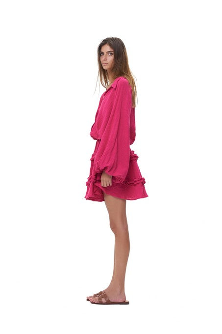 La Confection - Willow - Long Sleeve Celosia Linen Dress
