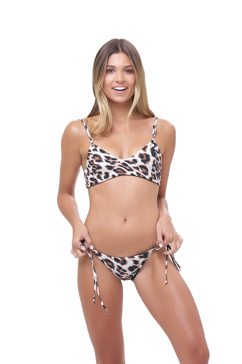 Storm Swimwear - Corfu - Tie Side with Ring Bikini Brief in Leopard