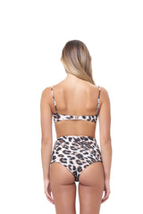 Storm Swimwear - Cannes - High Waist Bikini Bottom in Leopard Print