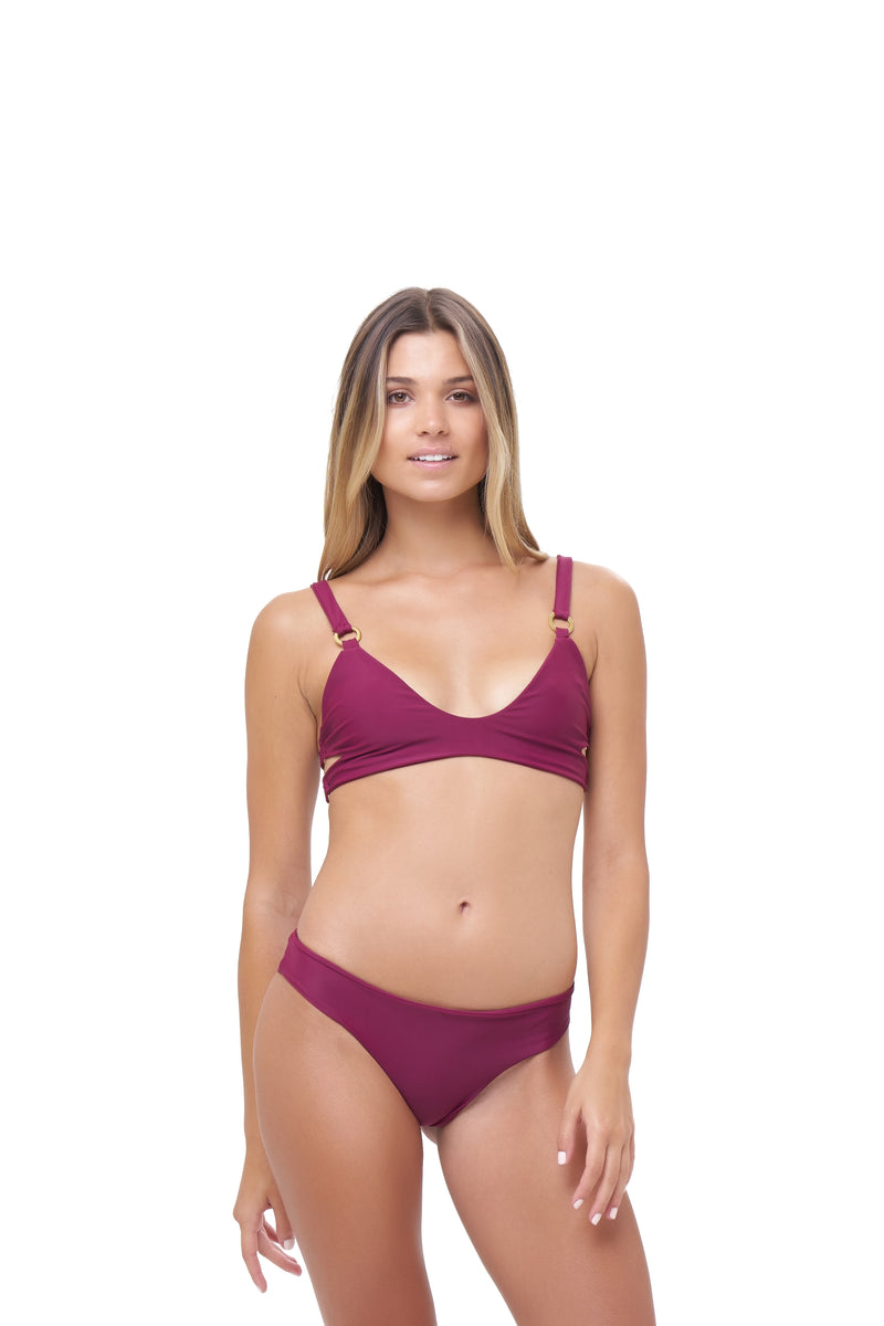 Storm Swimwear - St Barts - Bottom in Wine