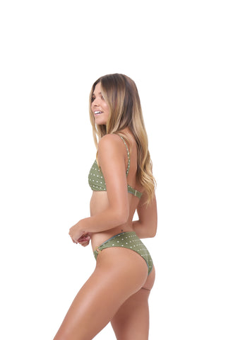 be566eb8d7c4b Storm Swimwear - Lanzarote - bikini Bottom in Seagrass Polkadot