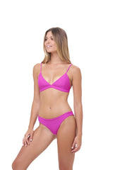 Storm Swimwear - Aruba - Centre Back Ruche Bikini Bottom in Fuchsia