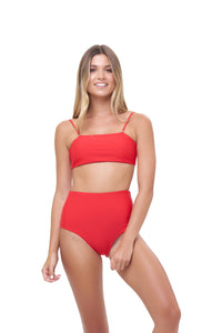 Storm Swimwear - Cannes - High Waist Bikini Bottom in Scarlet