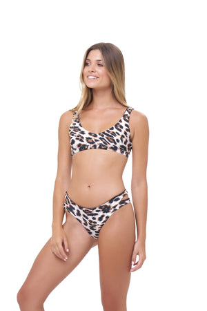 Storm Swimwear - Cottesloe - Bikini Top in Leopard Print
