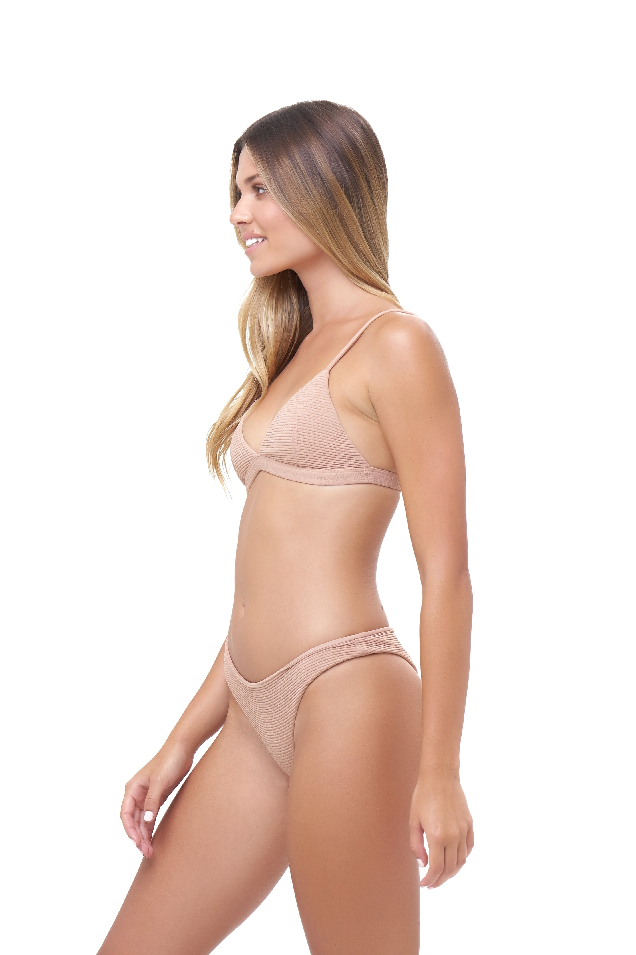 Storm Swimwear - Aruba - Centre Back Ruche Bikini Bottom in Storm Le Nuage Sable
