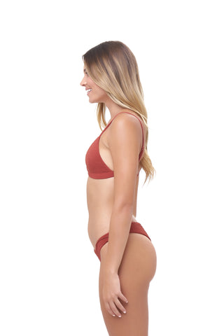 Storm Swimwear - Aruba - Centre Back Ruche Bikini Bottom in Storm Le Nuage Rouille