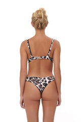 Storm Swimwear - Alicudi - Bikini Top in Leopard Print