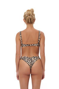 Storm Swimwear - Aruba - Centre Back Ruche Bikini Bottom in Cheetah Print