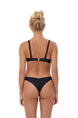 Storm Swimwear - Aruba - Centre back ruche bikini bottom in Black